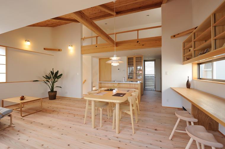 LDKと一体化したマルチコーナーは空間の広さを家族と共有できます